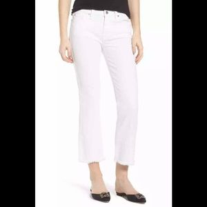 7 For All Mankind White Bootcut Crop Jeans - 25